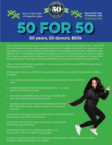 50 For 50 Campaign Flyer